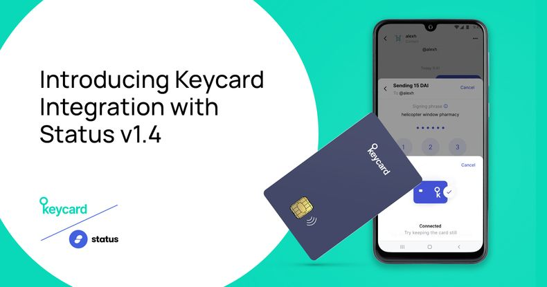 Keycard Expands Offering with Status App Integration, Improvements to API, and White Label Support